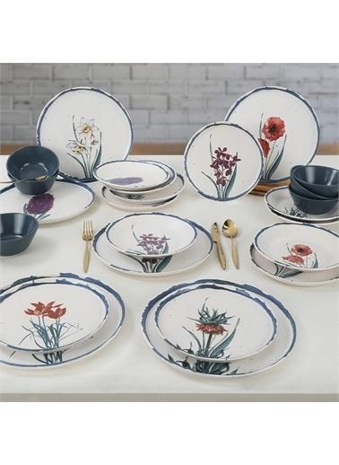 Keramika Anatolian Flowers Yemek Takımı 24 Parça 6 Kişilik - 256/261 Renkli
